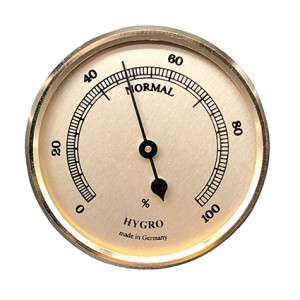 Hygrometer build-in weather instrument Ø 65mm, gold
