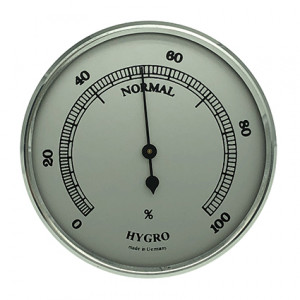 Hygrometer build-in weather instrument Ø 65mm, silver