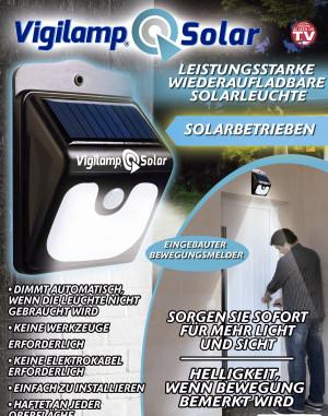 Lampe solaire avec détecteur de mouvement