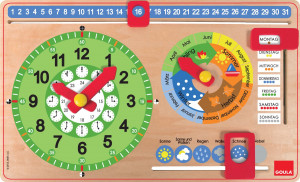 Kalenderuhr Querformat