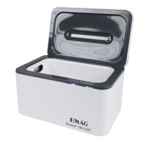 Ultrasonic device with UV-C disinfection