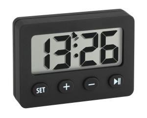 Digitalwecker mit Timer und Stoppuhr, schwarz