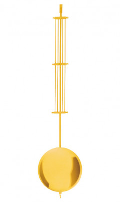 Mechanical offset pendulum brass yellow polished l: 600mm Ø: 140mm