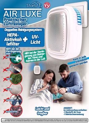 Luftreiniger mit Hepa-Aktivkohle-Filter und UV-Licht