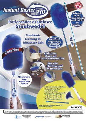 Original Instant Duster Pro - der rotierende, drahtlose Staubwedel