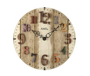 AMS Quarz-Wanduhr Vintage