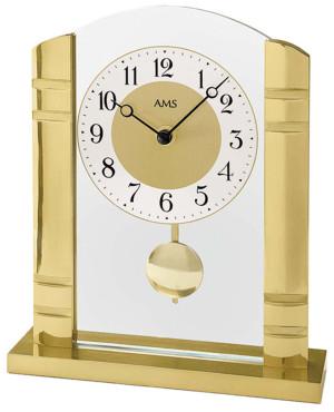 AMS Quarz-Pendeltischuhr Metall gelb