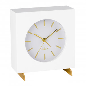 Atlanta 3104/0 Table clock quartz white