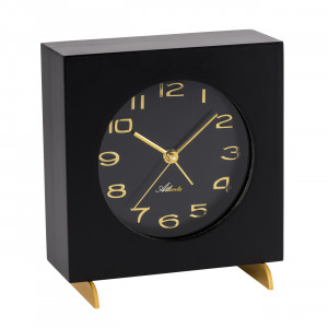 Atlanta 3104/7 Table clock quartz black
