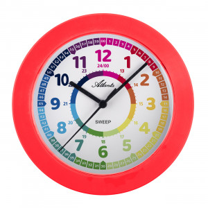 Atlanta 4483/1 Children's wall clock quartz red