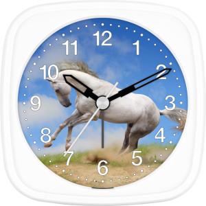 Children's alarm clock horse - white wild horse