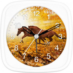 Children's alarm clock horse - horses in the forest
