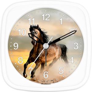 Children's alarm clock horse - horse in front of sunset