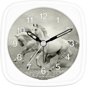 Children's alarm clock horse - white wild hoses