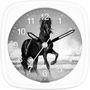 Children's alarm clock horse - black horse by the sea