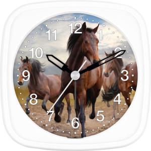 Children's alarm clock horse - brown wild horses