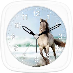 Children's alarm clock horse - white horse by the sea