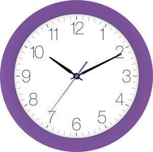 Radio-controlled wall clock violet