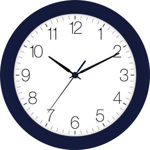Radio-controlled wall clock indigo blue