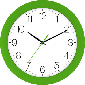 Radio-controlled wall clock green
