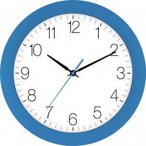Radio-controlled alarm clock blue