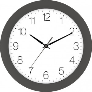 Radio-controlled wall clock gray