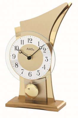 AMS quartz pendulum table clock brass