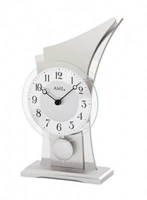 AMS quartz pendulum table clock aluminum