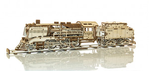 WOODEN CITY Express Train & Tender & Rails, 558 Bauteile