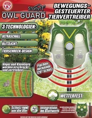 Garteneule Owl Guard - Bewegungsgesteuerter Tiervertreiber