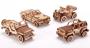 WOOD TRICK car set, 338 components