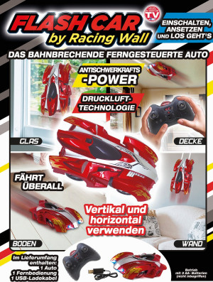 Flash Car by Racing Wall - drives everywhere - spectacular