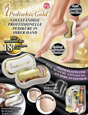 Pediwhiz Gold - die professionelle Pediküre