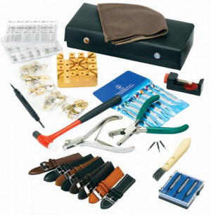 Tool set for changing belts - complete set for all types of belts