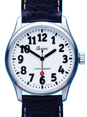 Uhren Manufaktur Ruhla - special watch - extra large digits - rich in contrast - for people with poor eyesight