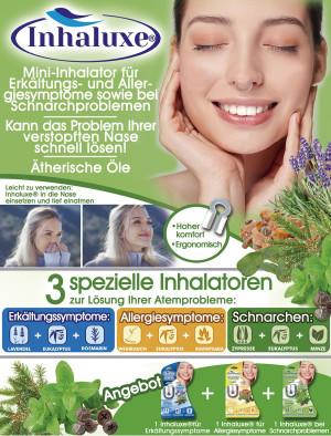 Inhalux Mini-Inhalator bei Erkältungssymptomen - kann das Problem von verstopften Nasen lösen!