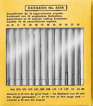 Reamers set Ø 0.46 - 1.90mm Bergeon