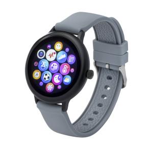 Fitness Tracker/ Smartwatch mit Wechselarmband schwarz/grau