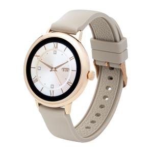 Fitness Tracker/ Smartwatch mit Wechselarmband beige/ schwarz