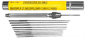Reamer assortment 0.61 - 1.90 mm with Bergeon holder