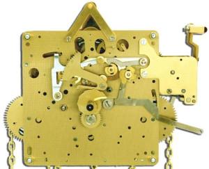 Standing clock movement Hermle 451-033, 8 days, pendulum 85cm, stroke on gong