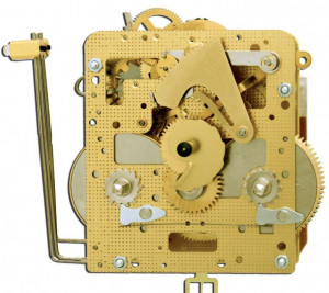 Regulator movement Hermle 141-030, 14 days, pendulum 52cm, stroke on gong