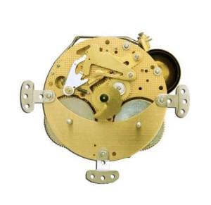 Table clock movement Hermle 131-080, 8 days, pendulum 21cm, stroke on double bell