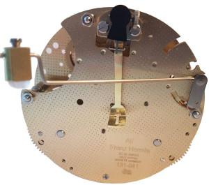 Table clock movement Hermle 131-041, 8 days, pendulum 45cm, stroke on gong