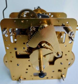 Home clock movement Hermle 241-080, 8 days, pendulum 32cm, stroke on bell, with short hammer