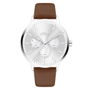 s.Oliver SO-4164-LM synthetic leather brown 18mm