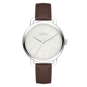 s.Oliver SO-4134-LQ Synthetic leather brown 16mm