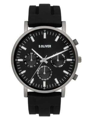 s.Oliver SO-4063-PM Silikon schwarz 22mm