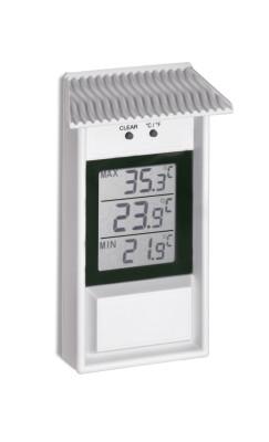 Max.-Min.-Thermometer für drinnen und draußen, weiß