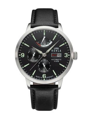 Uhren Manufaktur Ruhla - Automatik-Uhr mit Gangreserve - schwarz - made in Germany